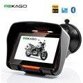 Бесплатная Доставка 4.3 Дюймов Водонепроницаемый Мотоцикл GPS Навигационная Система-8 ГБ Внутренний, Bluetooth, FM, Бесплатно Последняя Карта