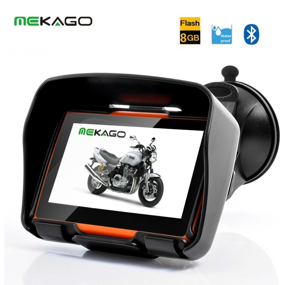 Free Shipping   Inch Waterproof Motorcycle Gps Navigation System Gb Internal Bluetoothfmfree Latest Map