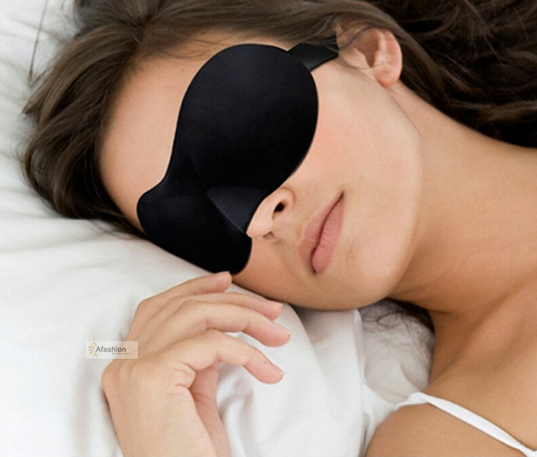 Black 3d Blindfold Sleep Eye Mask Massage Eye Relief Pressure Soft Padded Cover Rest Relax Bandage