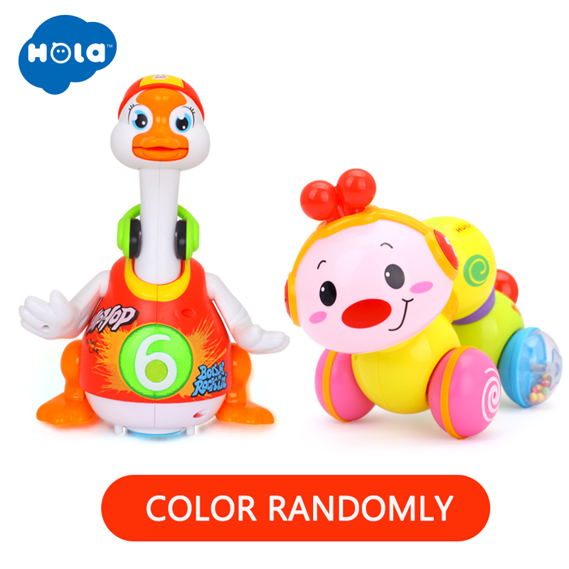 Wholesale Toys Rainbow Stacking Duck & Dancing Goose &  Worm Press function with music & Electric Click & Count Remote