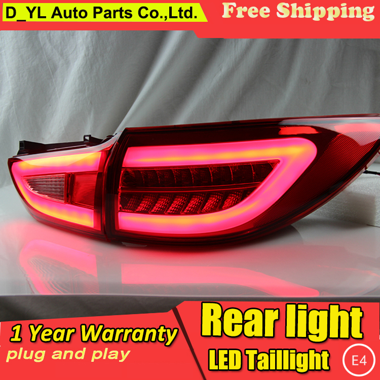 D_YL Car Styling for Mazda6 Taillights 2014-2015 New <font><b>Mazda</b></font> <font><b>6</b></font> <font><b>LED</b></font> <font><b>Tail</b></font> Lamp <font><b>LED</b></font> Rear Lamp DRL+Brake+Park+Signal <font><b>led</b></font> <font><b>light</b></font> image