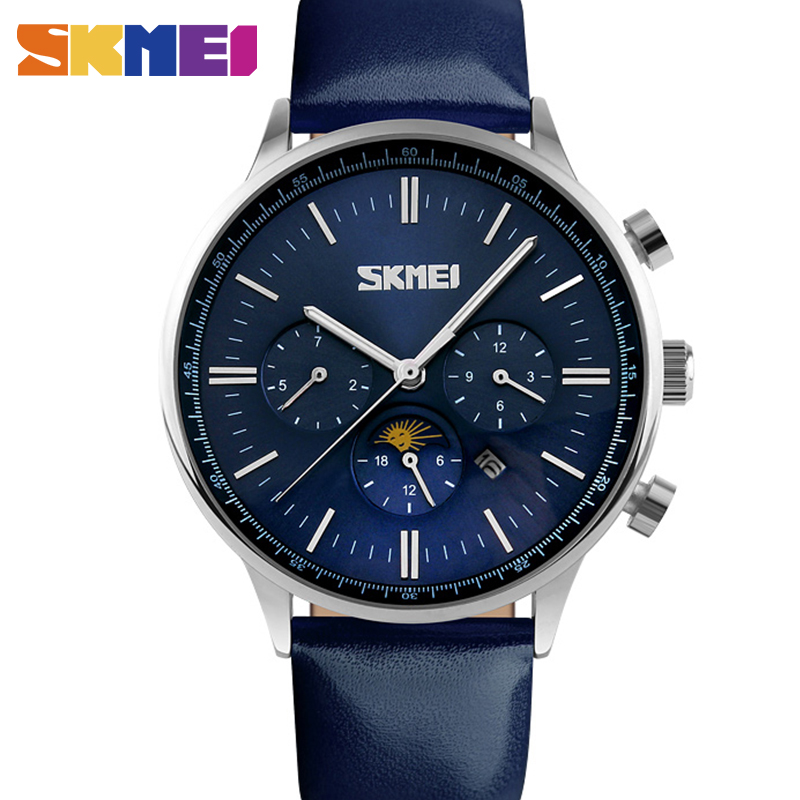 Watches Men Luxury Top Brand SKMEI New Fashion Men Big Dial Designer Quartz Watch Male Wristwatch relogio masculino relojes 9117