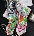 2017 Nuevo Estilo de Las Mujeres Cuatro Estaciones Phoenix Imprimir Elegante Decoración de Alta Calidad Chinoiserie Bufandas Bufandas Largas Estilo Retro SY