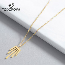Todorova Minimalis Palm Necklace Geometric Charm Pendant Necklaces for Women Jewelry Party Accessories Drop Shipping