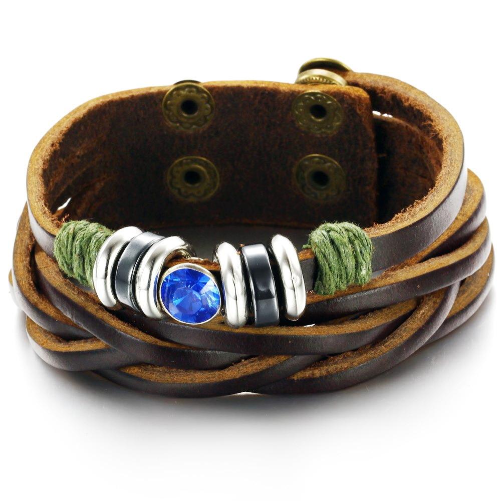 2015 New Jewelry Vintage Unisex Fashion Trend Rivets Leather Buckle Bracelet Charm Bracelets Ph778  -  kiki fashion jewelry ( worldwide store)