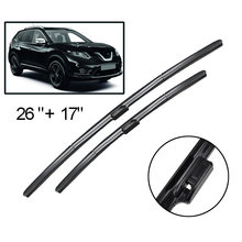 "Erick's Wiper LHD Front Wiper Blades For Nissan Rogue MK2 2014 - 2019 Windshield Windscreen Front Window 26""+17""(China)"