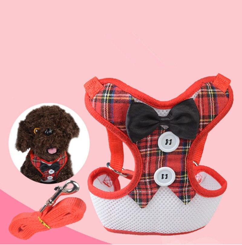 Pet Dog Chest Vest Harnesses Walking Lead Leash Strap Belt Velvet Bowtie Suit Tuxedo Party Harness Clothes For Dog 171026-38