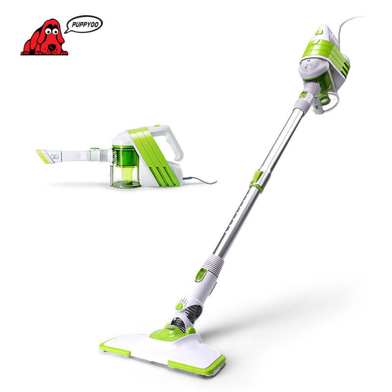 PUPPYOO Low Noise Home Rod Vacuum Cleaner Handheld Extension Tube Dust Collector Household Aspirator White&Green Color WP521 fifty shades darker no bounds ankle cuffs фиксаторы для лодыжек из натуральной кожи
