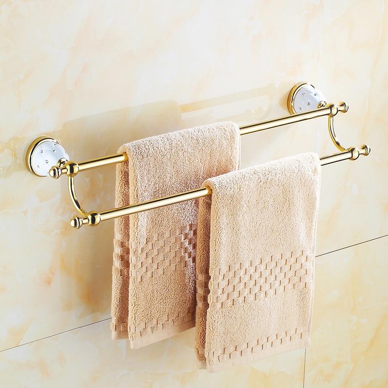 Euro style towel hold Diamond Gold chrome towel rack Wall-Mounted towel shelf Bathroom shelf Bathroom AccessoriesEuro style towel hold Diamond Gold chrome towel rack Wall-Mounted towel shelf Bathroom shelf Bathroom Accessories