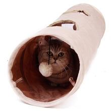 Túnel para mascotas de alta calidad con 2 agujeros de 120cm, juguete divertido para ocultar túnel con pelota, túnel para gatos plegable