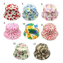Fashion Toddler Kids Baby Boys Girls Floral Pattern Bucket Hats Sun Helmet Hat Summer Accessory