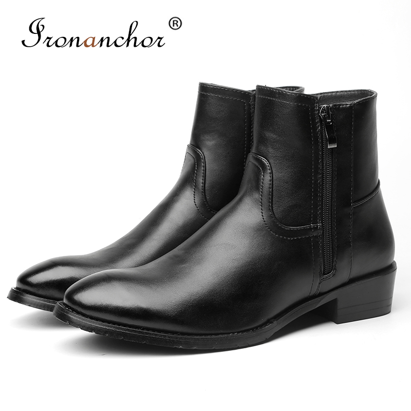 2019 Men Cowboy Boots High Quality Leather Fashion Spring/Autumn Ankle Rubber Men Boots #MPM627