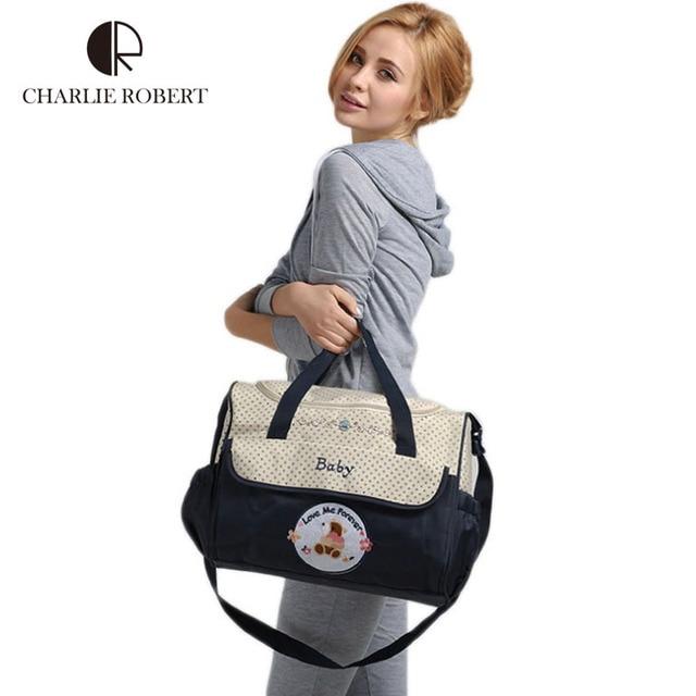 Hot Kawaii Cartoon bear High Quality baby diaper bags maternity bag multifunctional large capacity Tote bag Messenger bags HK468