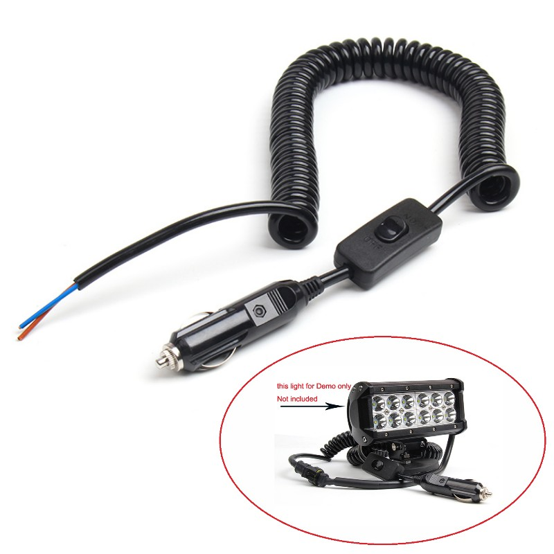 120w 12v 10a car cigarette lighter plug on off power. Black Bedroom Furniture Sets. Home Design Ideas