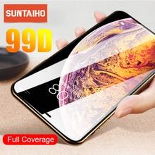 Закаленное стекло Suntaiho для iPhone 7 на iphone 6 6s 7 8 X XR XS MAX защита экрана iphone 7 plus Защитное стекло для экрана