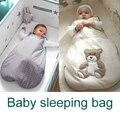 Saco de dormir del bebé oso de dibujos animados bolsa sobre de invierno para recién nacidos térmica sueño saco niños sleepsack en el carro de couchage