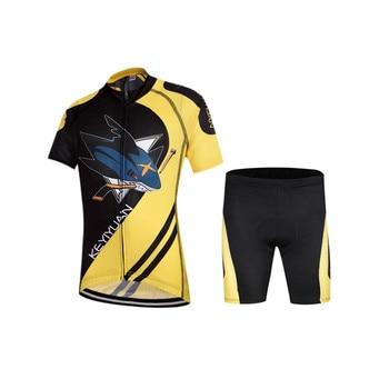 20 Ragazzi In Bici | 2016 Nuovo Stile Squalo Bambini Jersy Ciclismo Suit Manica Corta Ciclismo Abbigliamento Bike Bambini Bicicletta Sportswear Bici Jersey Ciclismo