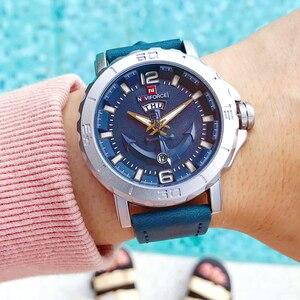 Image 4 - NAVIFORCE erkekler moda İş kuvars saatı yaratıcı spor saatler erkekler lüks marka İzle saat erkek Relogio Masculino