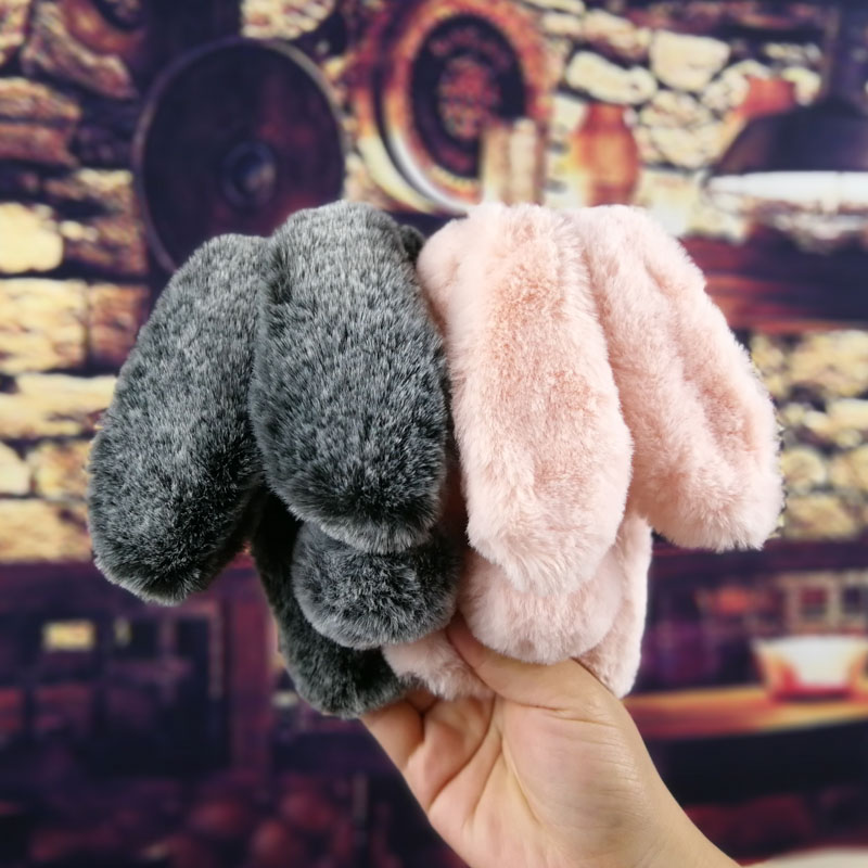 Geruide ZTE Blade V7 Lite Case Cute Rabbit Doll Plush Cover Hairy Fur Fluffy Phone Case ZTE Blade V7 Lite ZTEV7LITE Capa in Fitted Cases from Cellphones Telecommunications