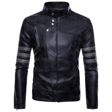 2019 New Hot Mens Leather Jacket Large Size Retro Motorcycle Casual Fashion Street Ja