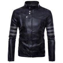 2019 New Hot Men's Leather Jacket Large Size Men's Jacket Retro Motorcycle Leather Jacket Casual Fashion Street Men's Leather Ja