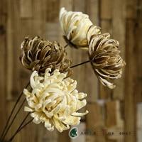 1 STKS Kerria japonica prachtige handgemaakte gedroogde bloemen woondecoratie high-end simulatie nep boeket bloem festival