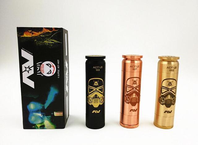 1 UNID Capaz Capaz de storm trooper latón mod cobre negro mod 18650 batería mecánica mod cigarrillo electrónico e cigs puede caber atomizador RDA RBA