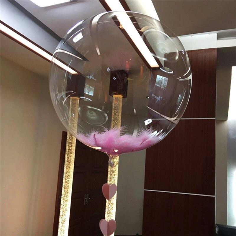 10pcs Clear Balloons Transparent DIY Ballons No Wrinkles Round Ballon Birthday Wedding Party Decor Supplies Bubble Ballon Gifts