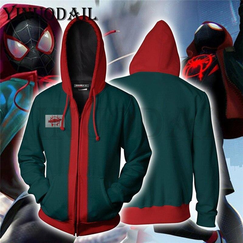 Iron Spider Man Venom Black Panther 3D Hoodies Spiderman Sweatshirts Women Autumn Funny Print Harajuku