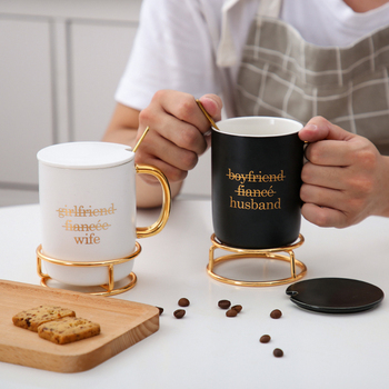 Valentines day gift Coffee Cup with Cap Spoon Anniversary present for husband wife gift for girlfriend boyfriend 1