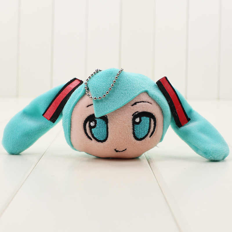 1pc 7 centimetri Giapponese Del Fumetto Del Anime Hatsune Miku giocattolo della peluche Sorridente dell'anello chiave di keychain Del Pendente della Bambola