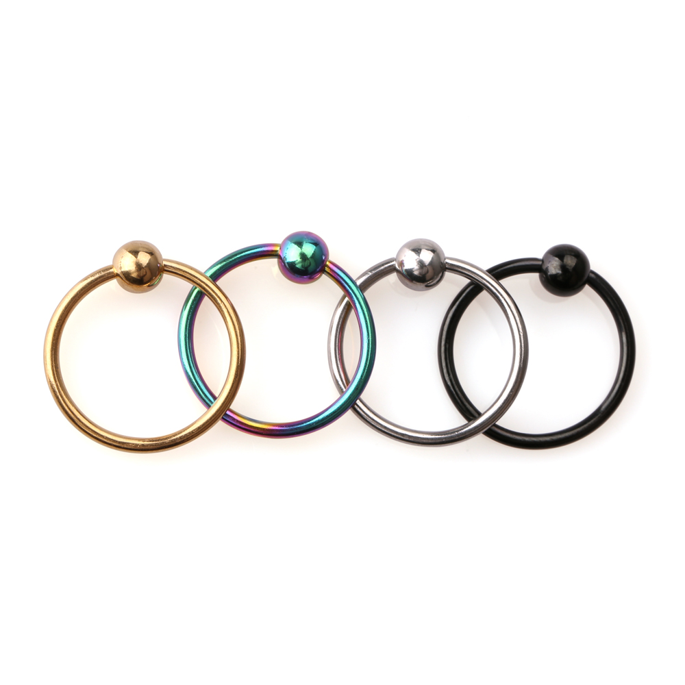 Extra 16g Surgical Steel Captive Bead Ring Septum Nose Hoop Earrings Ear  Tragus Cartilalge Labia Piercing Jewelry
