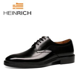 Men Shoes Formal Derby Business Social Office Black Men's Masculino Lace-Up Brand Sapatos
