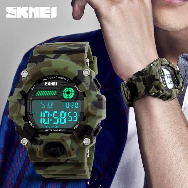 SKMEI 1197 Мужчины Спорт Цифровые Часы На Открытом Воздухе Militray Армия Часы Водостойкой Будильник Хронограф Наручные Часы