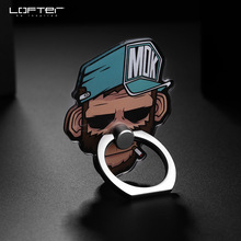 Lofter 360 Degree Rotate Finger Ring Cartoon Holder Mobile Phone Stand For iPhone 5 7 for Samsung Universal Phone Holder Ring