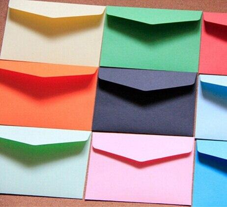 10 pçs/lote Doce cor de mini Cartões Postais envelopes Envelope De Papel Ofício Para O Papel de Carta DIY Multifunction Material Escolar