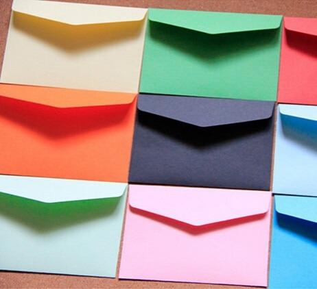 10pcs/lot  Candy Color Mini Envelopes DIY Multifunction Craft Paper Envelope For Letter Paper Postcards School Material