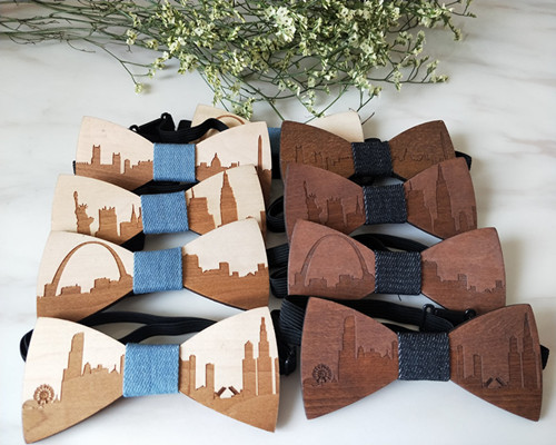 Fashion Wooden Gentleman Bow Ties Handmade City Show Butterfly Wedding Party Bow Ties Butterfly Wooden Unique Tie for Man