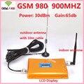 Pantalla LCD! GSM 980 900 mhz potenciadores de la señal del teléfono móvil, teléfono celular GSM repetidor de señal gsm amplificador de señal con la antena