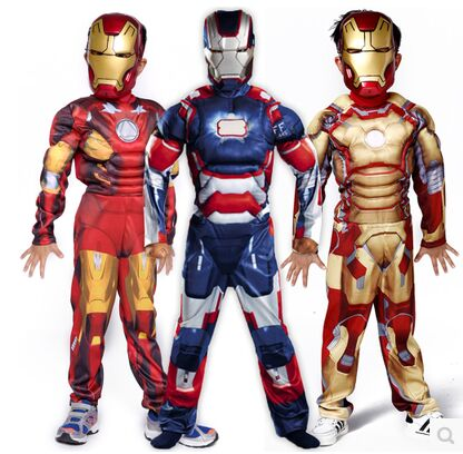 Iron Man cosplay costume ironman super hero carnival kids boy Patriot muscle superhero costumes Birthday Gift-in Boys Costumes from Novelty u0026 Special Use on ...  sc 1 st  AliExpress.com & Iron Man cosplay costume ironman super hero carnival kids boy ...