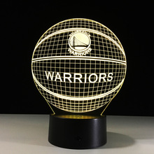 Amazing NBA Team Logo Led 3D Light Basketball Night Lights with Remote Touch sensor Desk Table Lamp Beside Child Sleeping lights