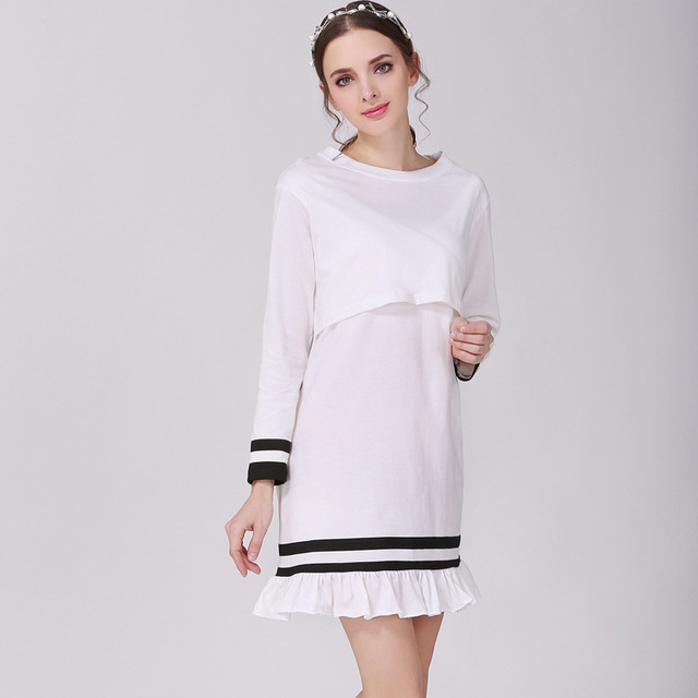 491a8ab41d4d3 white tops maternity clothes maternity dresses pregnancy clothes for  Pregnant Women nursing dress Breastfeeding Dresses