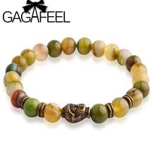 GAGAFEEL Buddha beads Charm Bracelets Bangles Stone Bracelets Bangle For Women and Men Fine Jewelry 2017