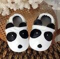 Высокое качество Натуральной кожи panda паттен детские мокасины обувь Первые Ходоки Против скольжения Первые Ходоки Для Мальчика Девушки обувь