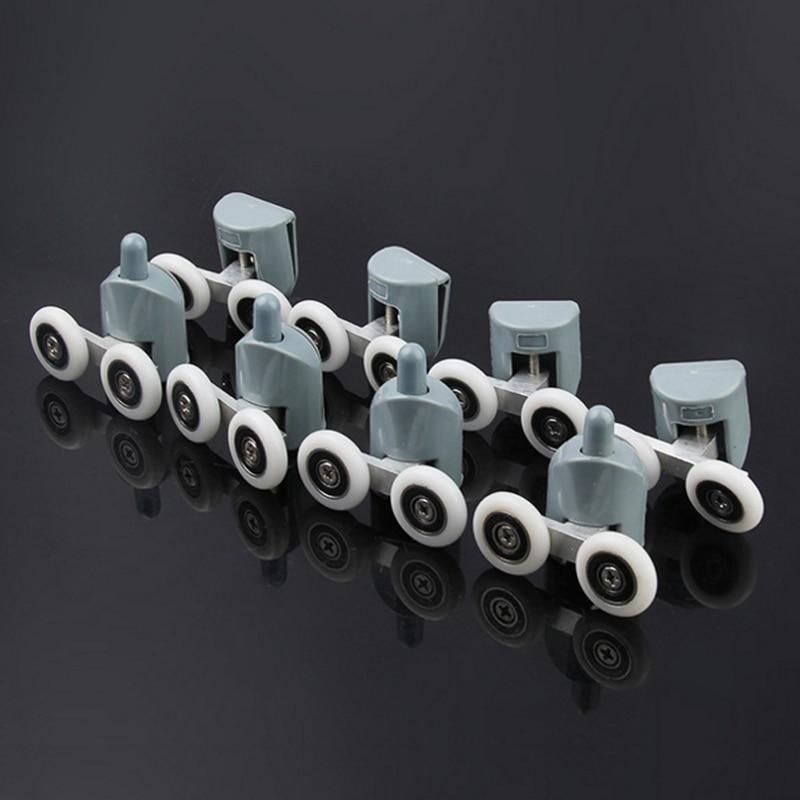 Zinc alloy double shower door roller wheel runner pulleys rollers wheels bearing diameter 19mm 20mm 23mm