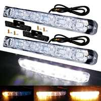 2PCS Universal 6 LED Car Daytime Running Light Waterproof DRL Kit Day Light Auto Driving Light External Light Decorative Lamp