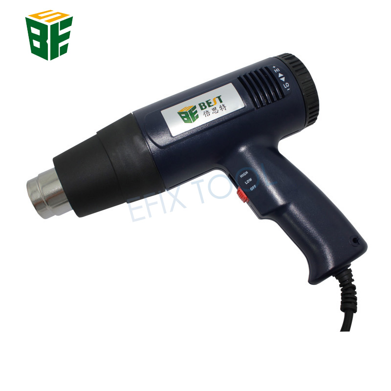 1600W Handhold Hot Air Heat Gun Temperature Adjustable Hot Air Blower BST-3A laoa 1800w heat gun temperature adjustable hot air gun with over load protect hot air blower