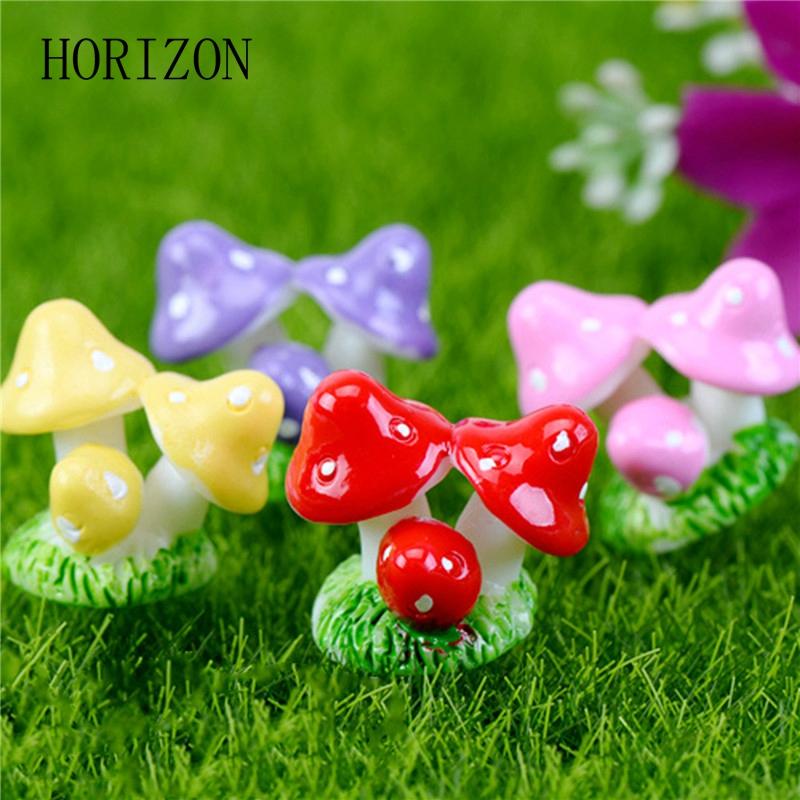 unidslote miniaturas jardn de hadas mini mushroom ornamento del jardn macetas en miniatura