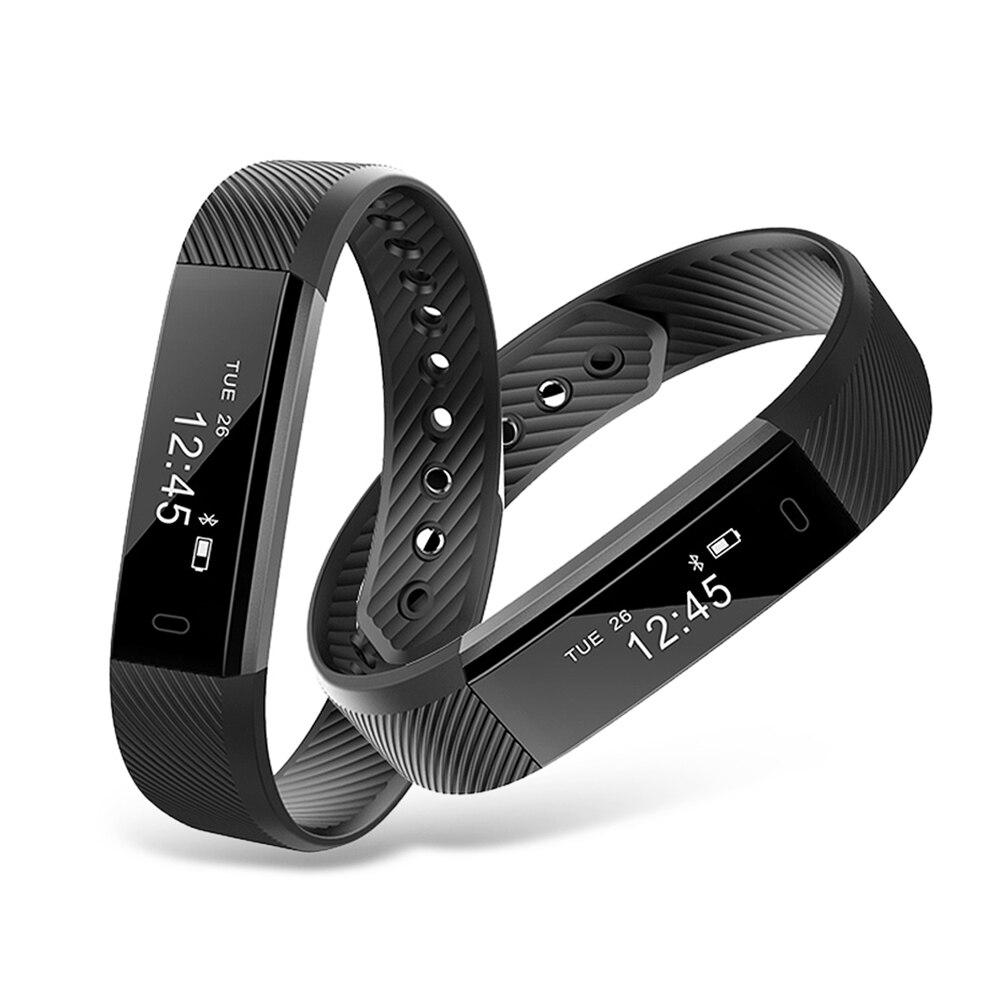 ID115 Bluetooth 4.0 Fitness Tracker Sleep Monitor steps Record Creative Watches IP67 Dustproof Waterproof SmartWatch Intelligent