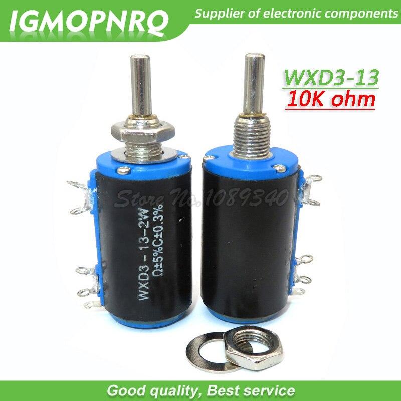 2 pces WXD3-13-2W 10 k ohm WXD3-13 2 w rotativo lado multiturn wirewound potenciômetro igmopnrq